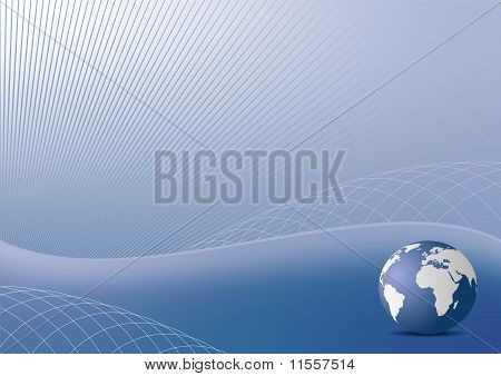 Illustration The Abstract Blue Background For Design Business Cover Card Or Invitation Style