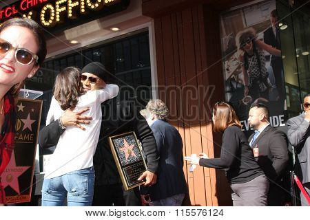 LOS ANGELES - JAN 21:  Daniela Ruah, LL Cool J at the LL Cool J Hollywood Walk of Fame Ceremony at the Hollywood and Highland on January 21, 2016 in Los Angeles, CA