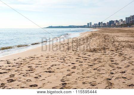 El Campello Beach. El Campello Is A Town On The Costa Blanca. Alicante, Spain