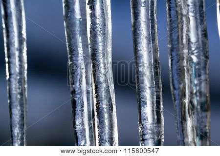 Icicles From Low Winter Temperatures