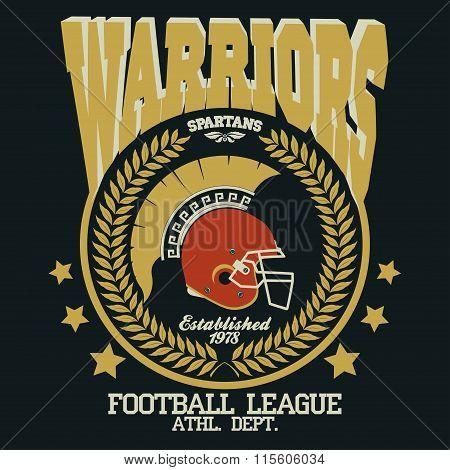 Football t-shirt Spartan Warrior