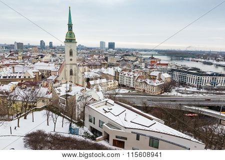Bratislava, Slovakia - January 24Th, 2016: View Of The Town