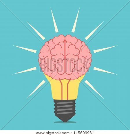 Light Bulb With Brain
