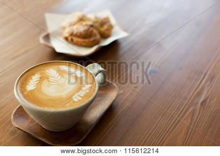 Latte Art In Cafe