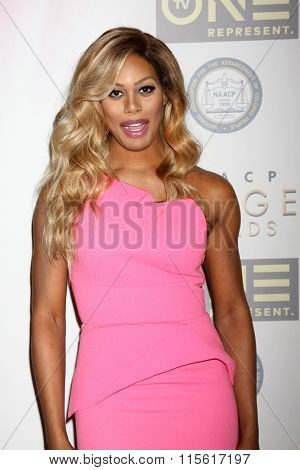LOS ANGELES - JAN 23:  Laverne Cox at the 47th NAACP Image Awards Nominees Luncheon at the Beverly Hilton Hotel on January 23, 2016 in Beverly Hills, CA