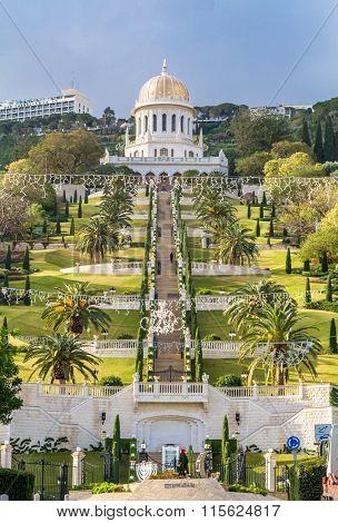 Bahai Gardens, Haifa City, Israel