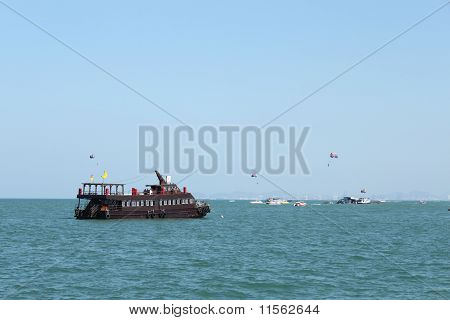Boat in the sea,Koh Lan,Thailand