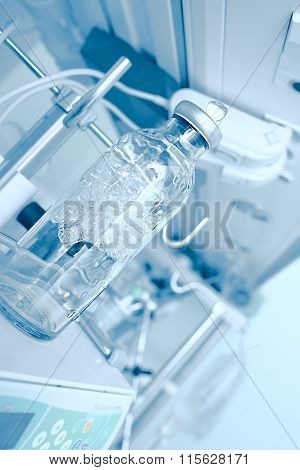 Modern Laboratory Equipment With Glass Bottle