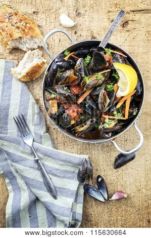 Sailors Mussel in Casserole poster