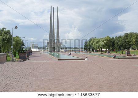 Vitebsk, Belarus - September 01, 2013 - Memorial to Soviet soldiers partisans and underground fighters (