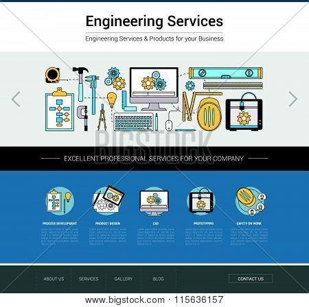 Engineering Web Template