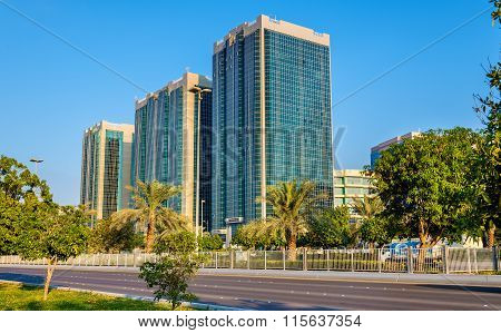 Buildings On Corniche Road In Abu Dhabi, Uae