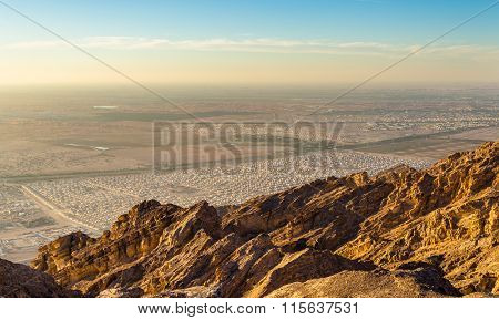 Houses For Expo 2020 Near Al Ain As Seen From Jabel Hafeet Mountain - Uae