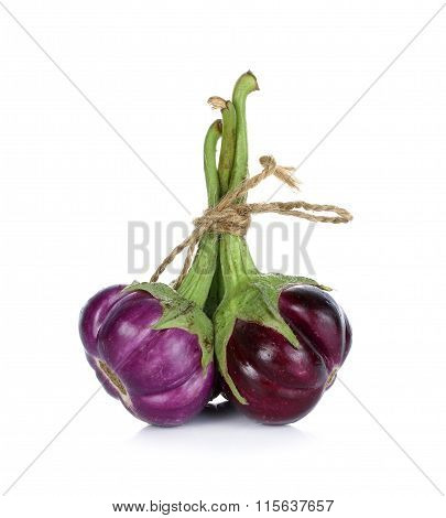 Eggplants Isolated On The White Background