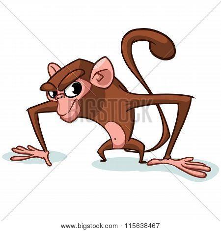 Cheeky Monkey Character. Vector mascot Cartoon monkey character. Mascot for Chinese New Year