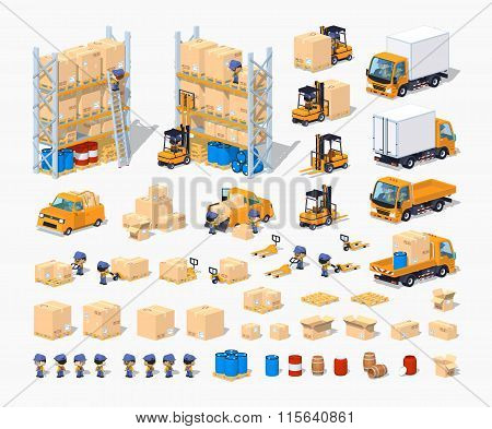 Warehouse. Set of objects