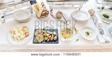 breakfast in the hotel