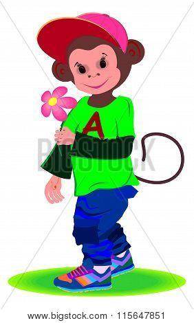 cheerful monkey