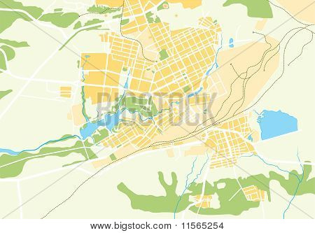 Vector Geo Map of The City