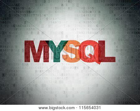 Software concept: MySQL on Digital Paper background