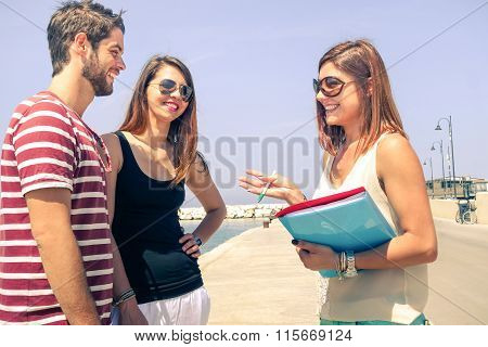 Young Woman That Is Promoting Sales Of Holiday Residence