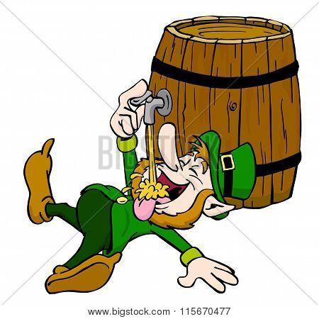 Leprechaun Drinking