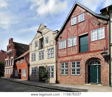 Old Half-timbered Houses, Luneburg, Germany