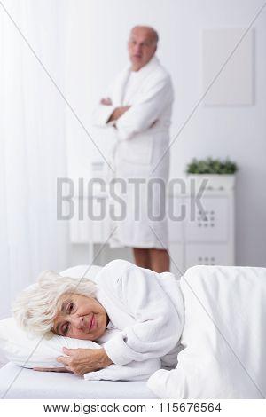 Senior Couple Having Marital Problems