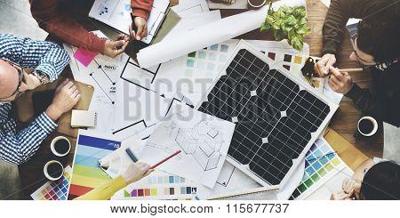 Solar Cell Energy Environmental Power Generator Concept