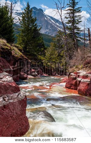 Red Rock Creek With Vimy Peak