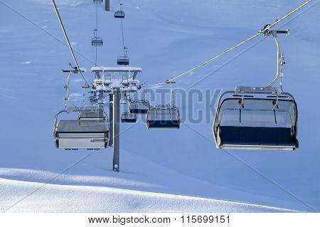 Ski-lift At Early Morning