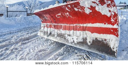Closeup Of Snow Plough Paddle