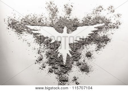Phoenix Drawing Made In Ash