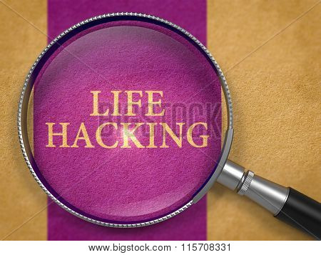 Life Hacking through Lens on Old Paper.