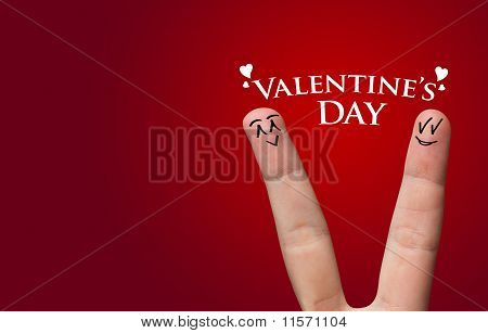 Painted Finger Smiley