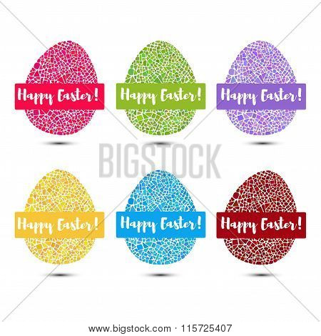 Mosaic Easter egg set