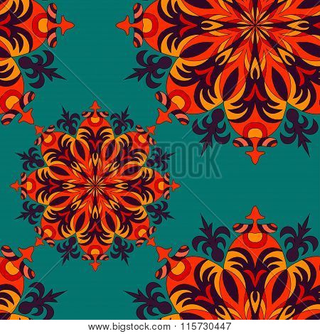 Seamless Pattern. Vintage Elements Vector Illustration