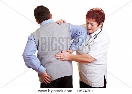 Man With Back Problems At Doctor