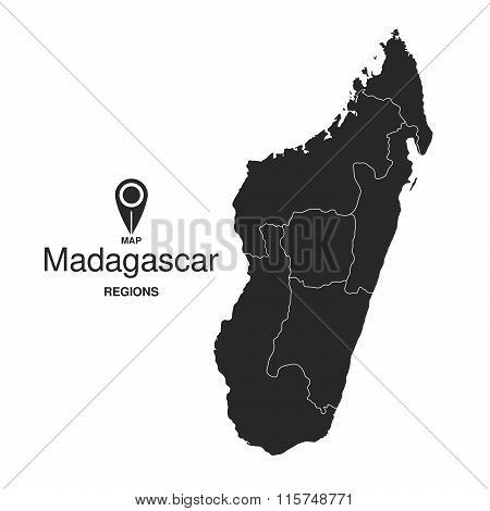Madagascar Map Regions