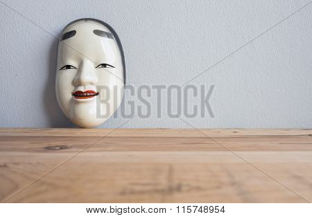 Traditional Japanese Theater Masks Made Of Iron