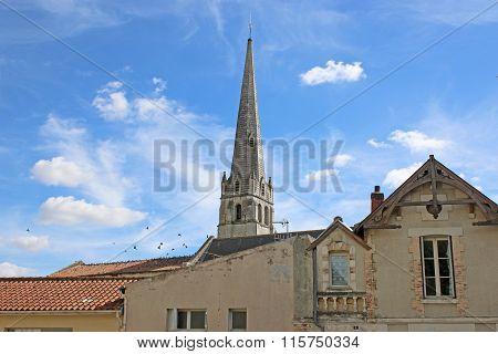 St Pierre du Marche church tower, Loudun