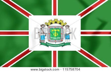 Flag Of Goiania (goias), Brazil.