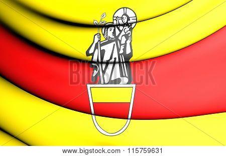 Flag Of Werne (north Rhine-westphalia), Germany.