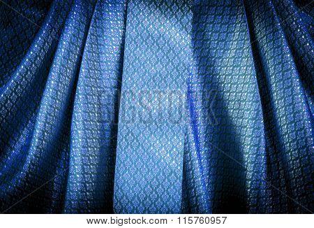 Blue Thai Pattern Textile