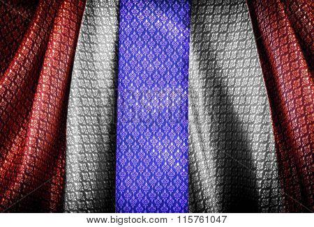 Thai Flag In  Pattern Textile