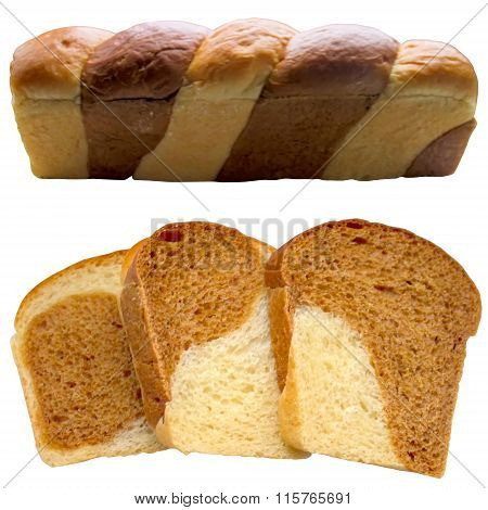 Fresh Bread Isolated On White.