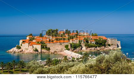 Sveti Stefan old town on the island