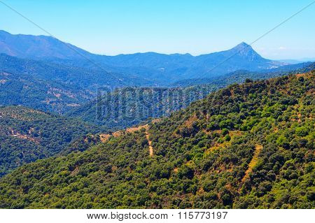 Andalusian Mountains In August.