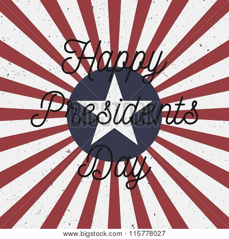 Happy Presidents Day USA colorful Background