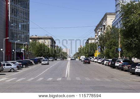 Komsomolskaya Street. Volgograd, Russia